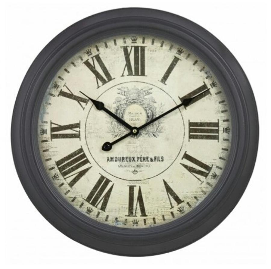 Vintage Wall Clock Dark Taupe