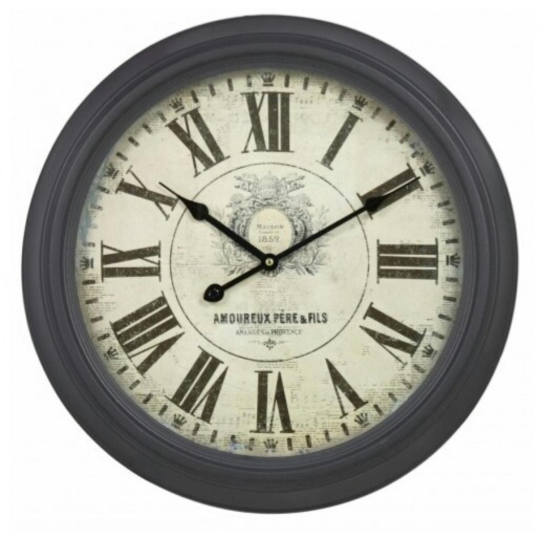 Vintage Wall Clock Dark Taupe