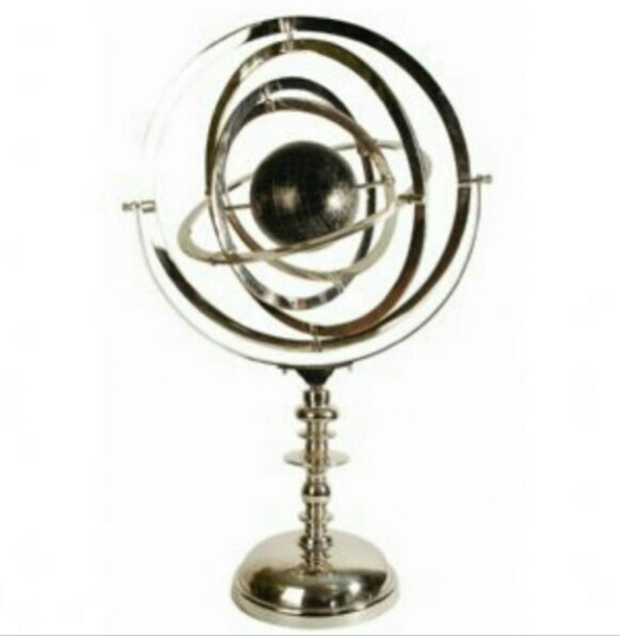 Gilespy Giant Nickel Armillary With Globe