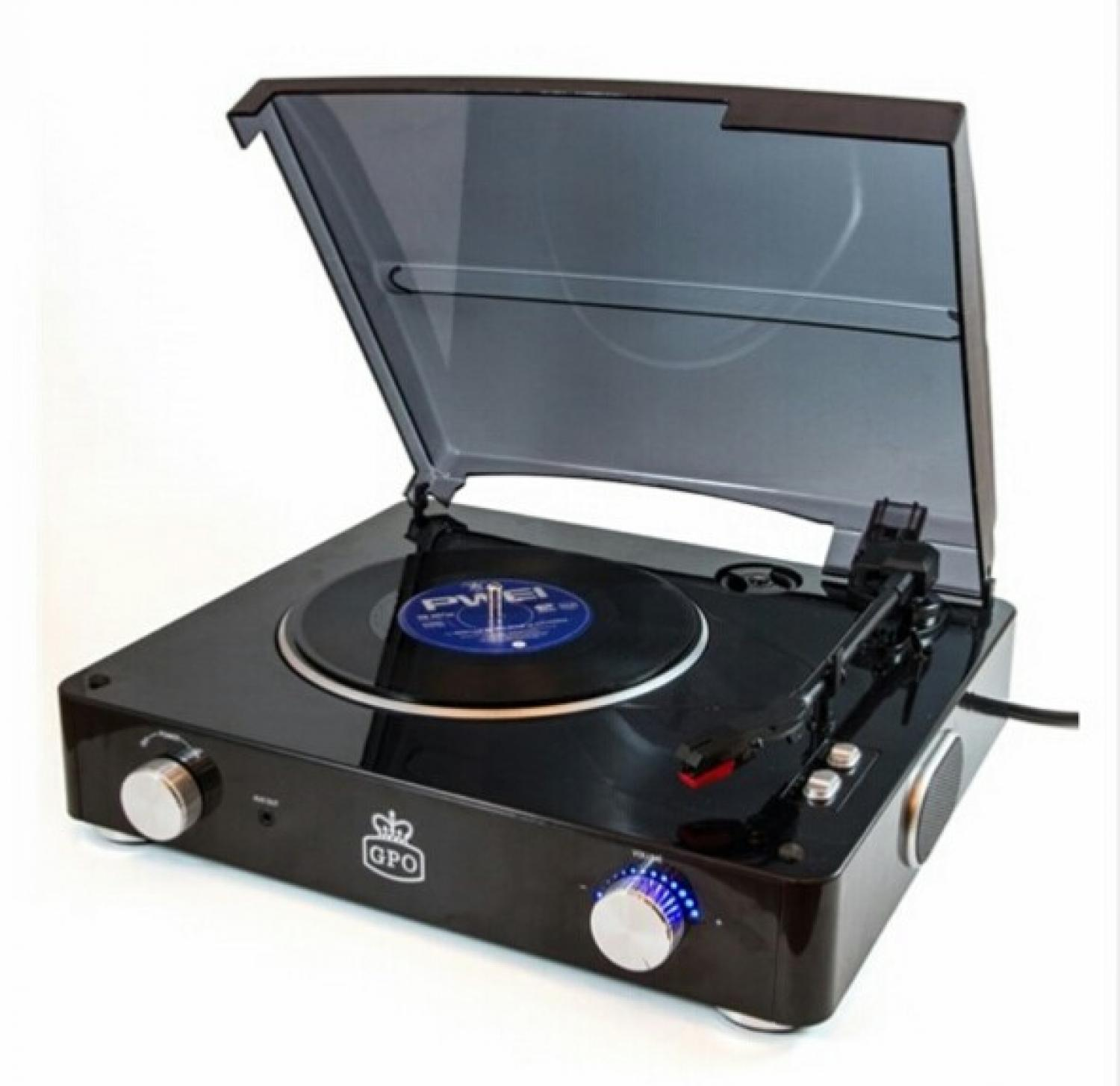 GPO Stylo Record Player black