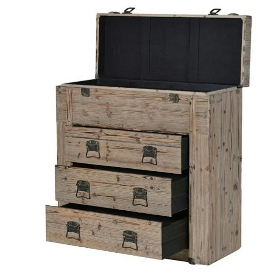 Rustic opening top chest