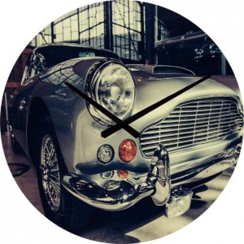 Tempered glass Aston Martin wall clock 80 cm diameter