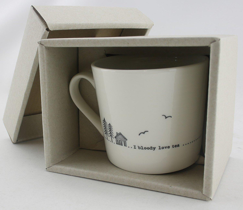 Wobbly Mug - i bloody love tea