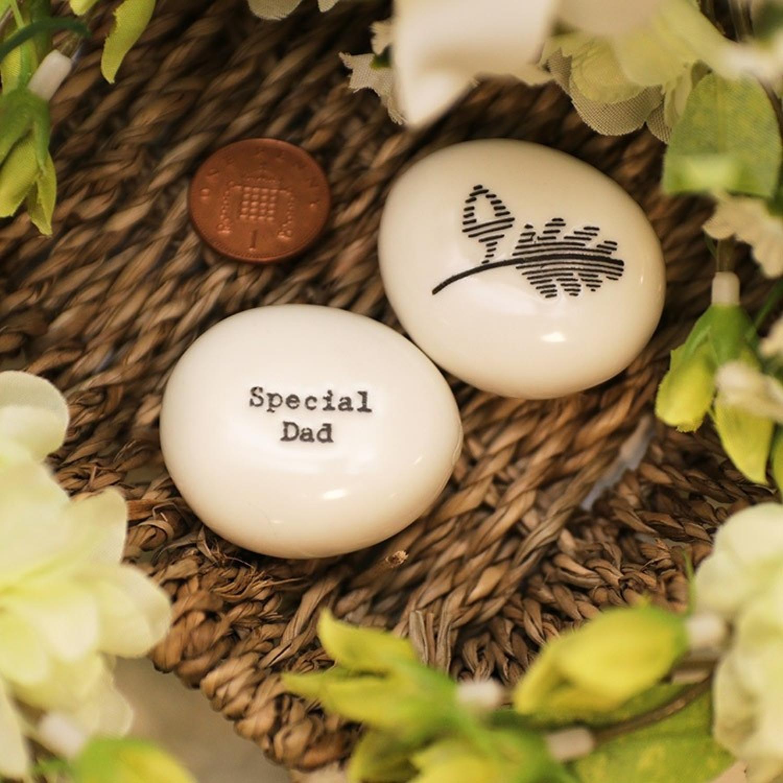 Porcelain pebble - special dad