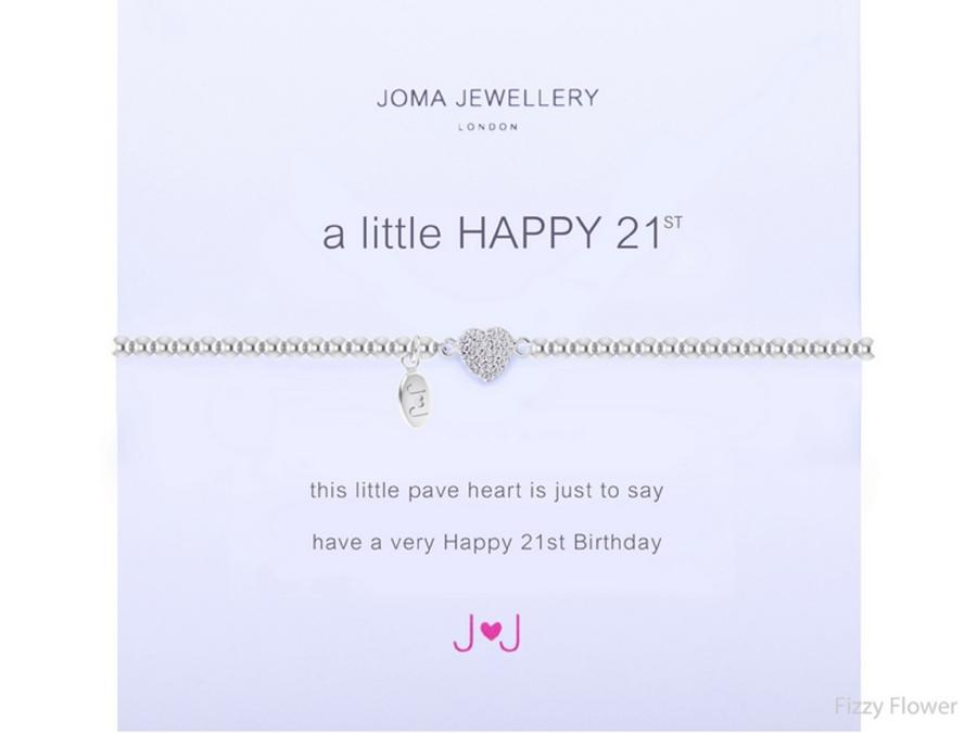 Joma Jewellery a little happy 21st - silver bracelet