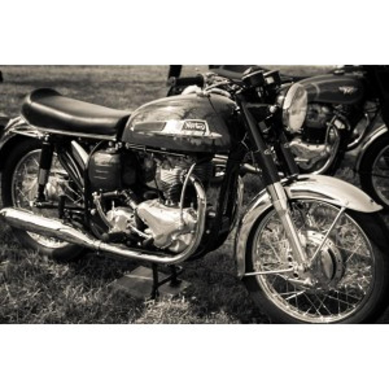 Norton motorbike tempered glass wall-art 80cm x 120cm