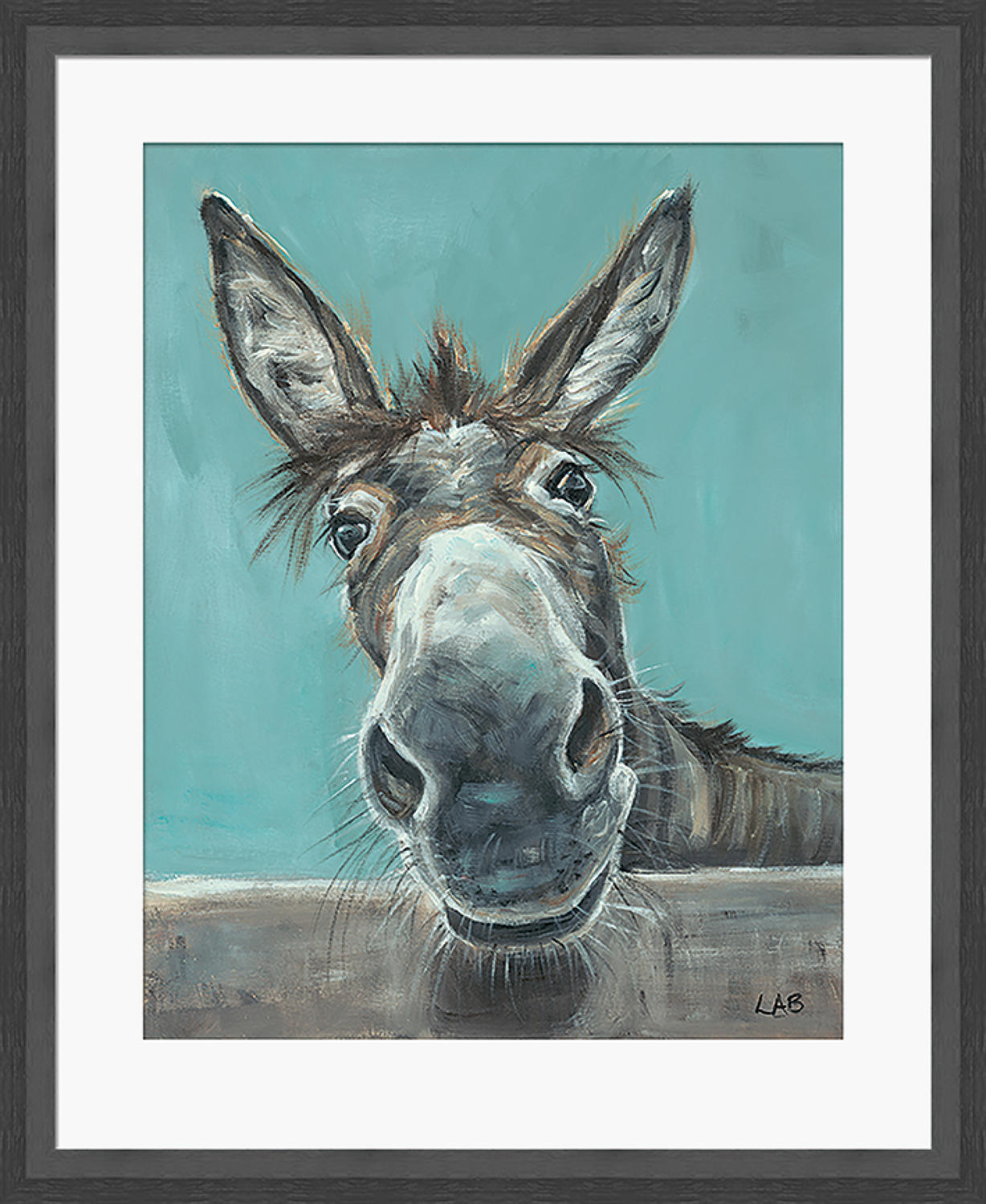 Louise Brown - framed print - well hello there