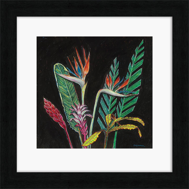 Shyama Ruffell - Framed print - Dark Tropical 1