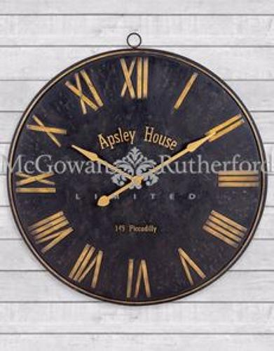 Black & Gold iron wall clock