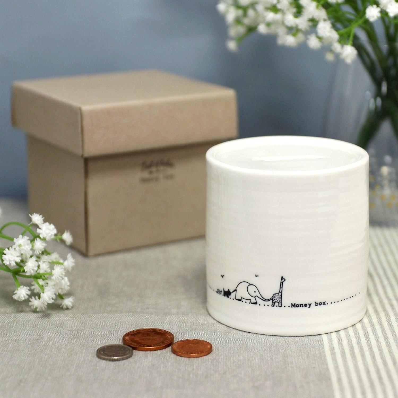 East of India - Porcelain money box - Nursery animals