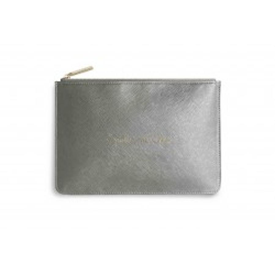 Katie Loxton - Perfect Pouch - Sparkle and Shine - Metallic Khaki
