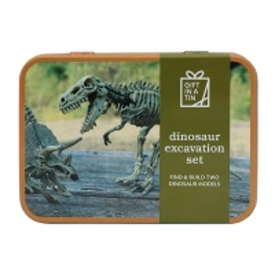 Gift in a Tin - Dinosaur Excavation Set