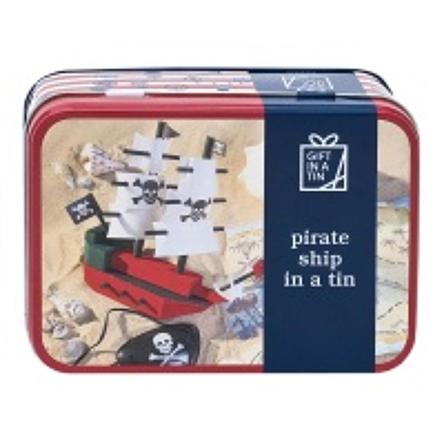 Gift in a Tin - Pirate ship in a Tin