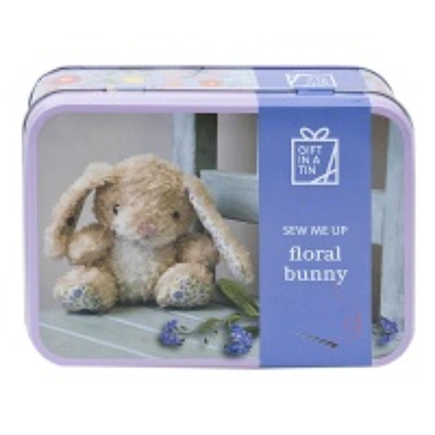 Gift in a Tin - Sew me up creatures - Floral Bunny