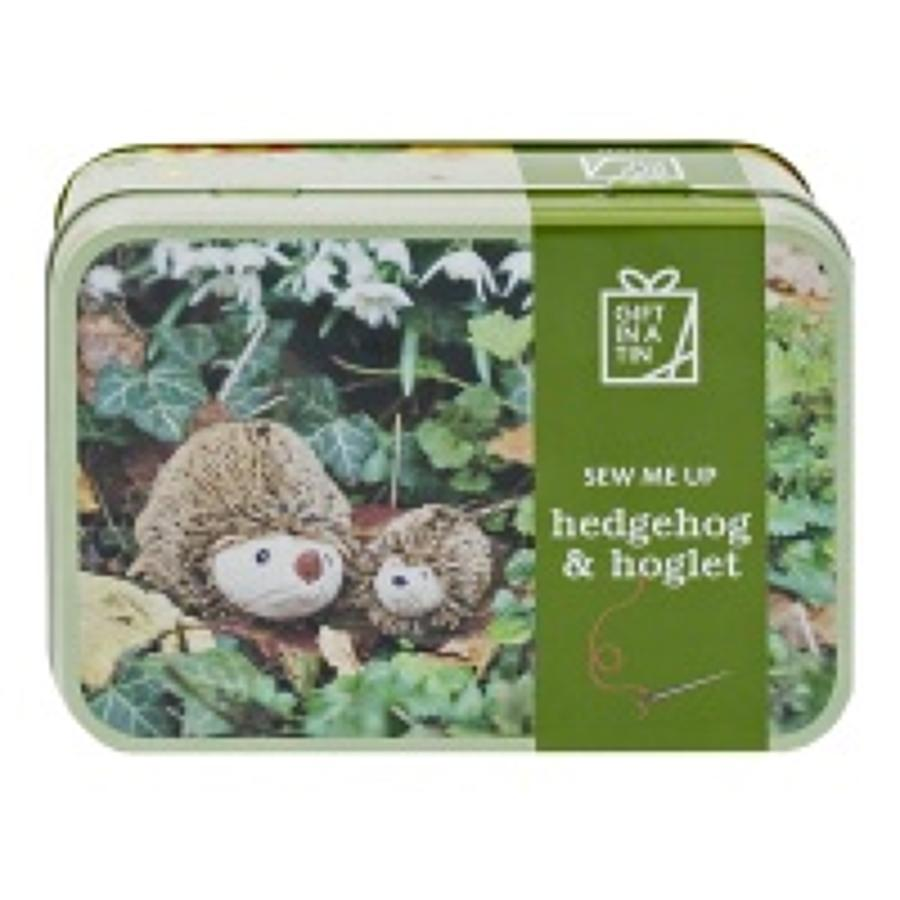 Gift in a Tin - Sew me up creatures - Hedgehog & Hoglet