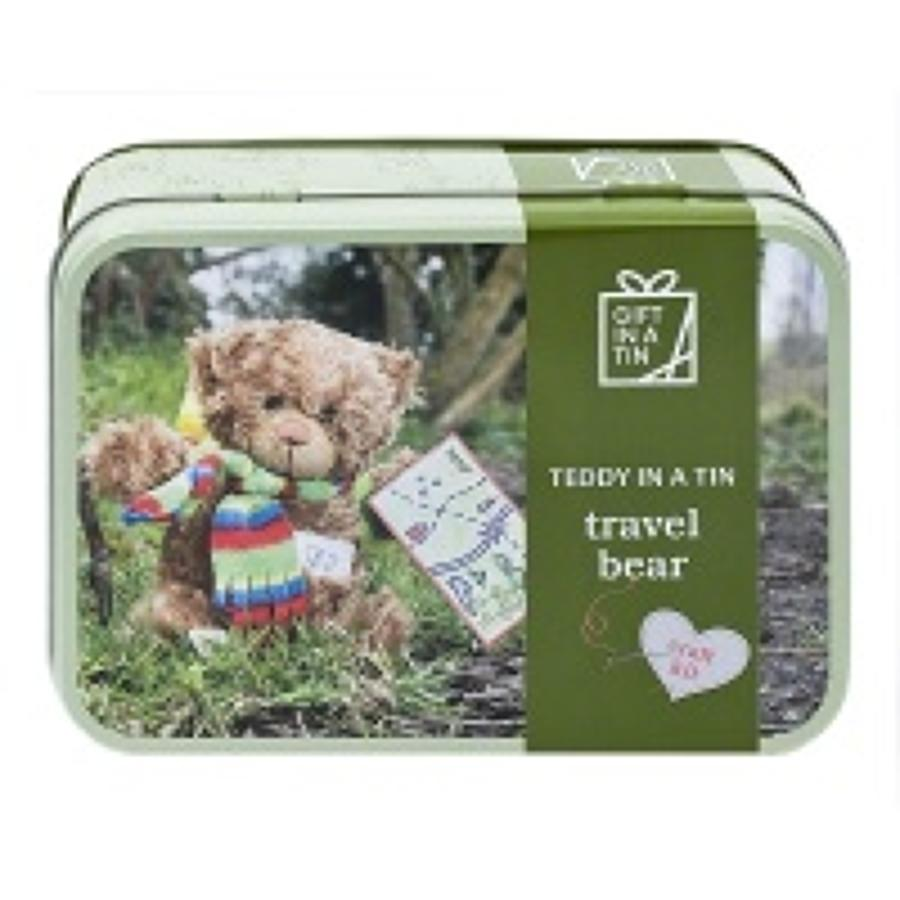 Gift in a Tin - Travel Bear - Teddy in a Tin