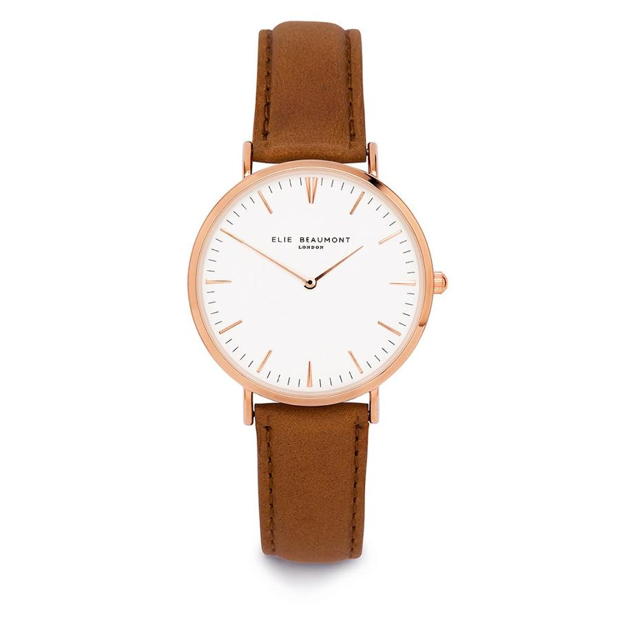 Elie Beaumont - Oxford large Camel Ladies Watch