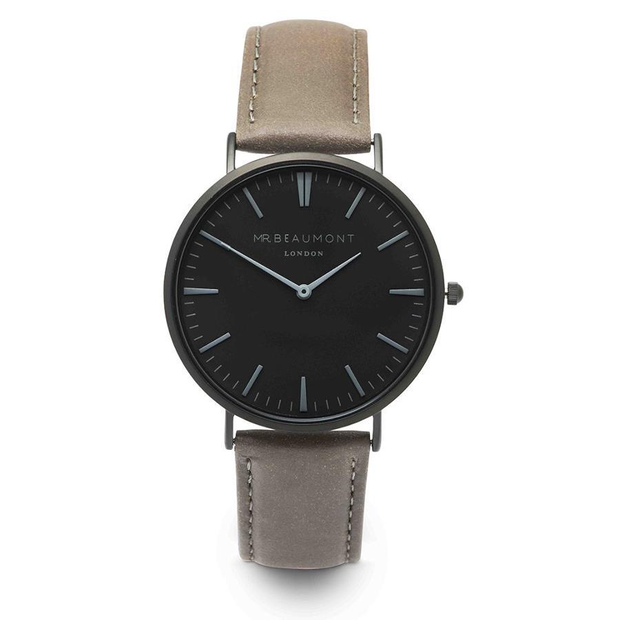 Mr Beaumont - Leather Matt Grey