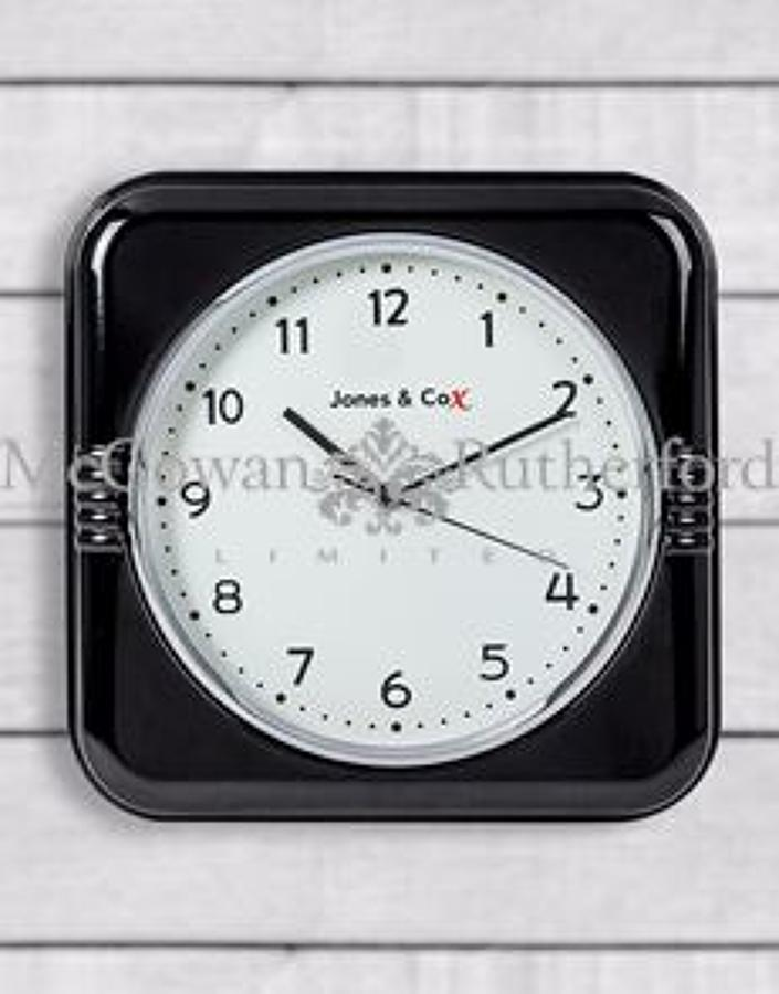 Retro Black Diner Wall Clock