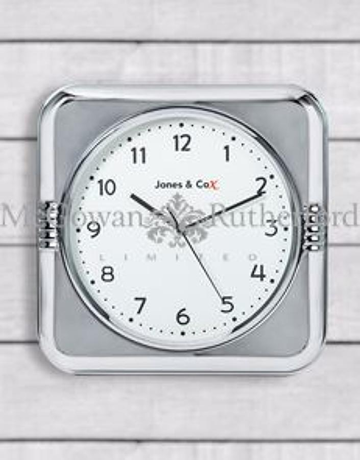 Retro Chrome Diner Wall Clock