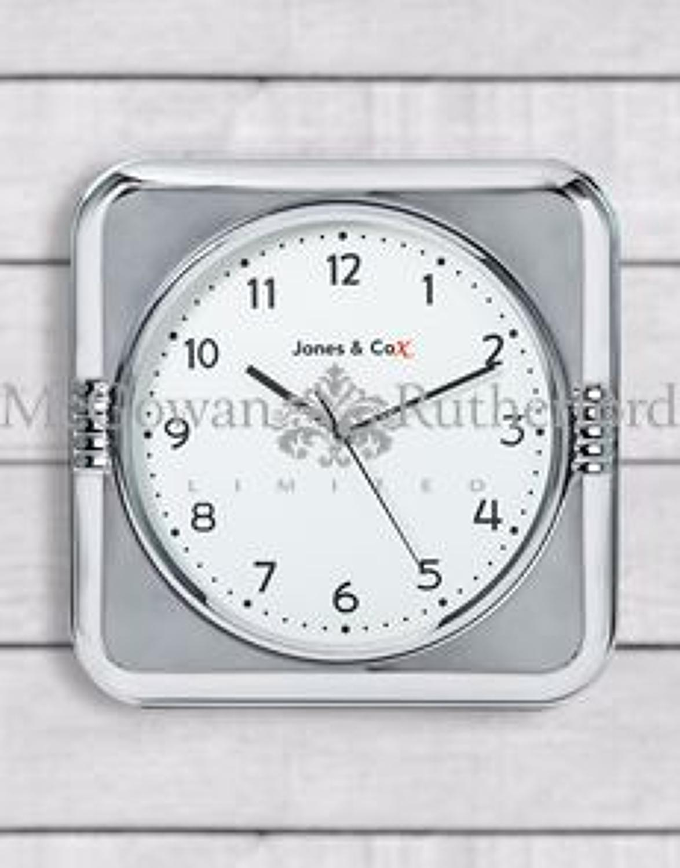 Retro Chrome Diner Wall Clock