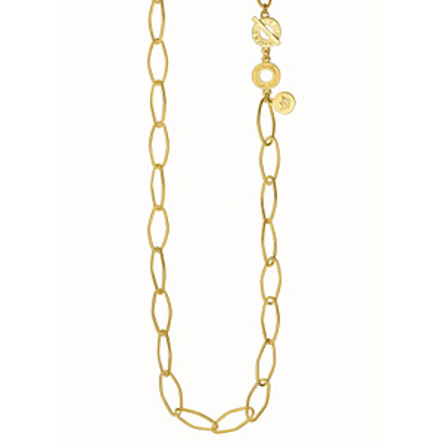 Sence - Essenntials necklace matt gold 90cm