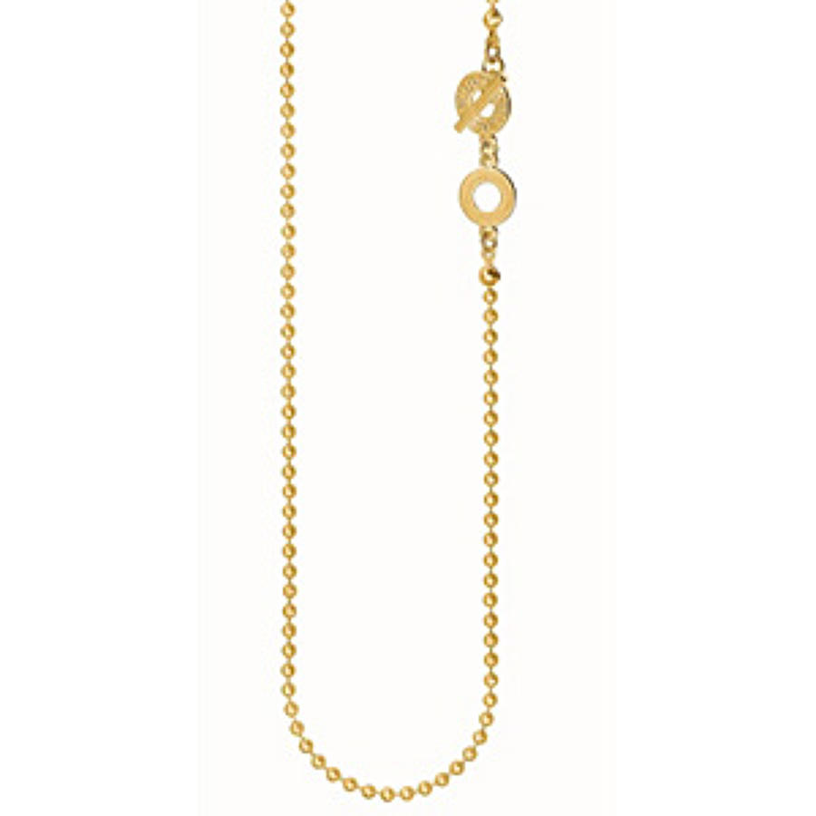 Sence - Essentials necklace matt gold 90cm