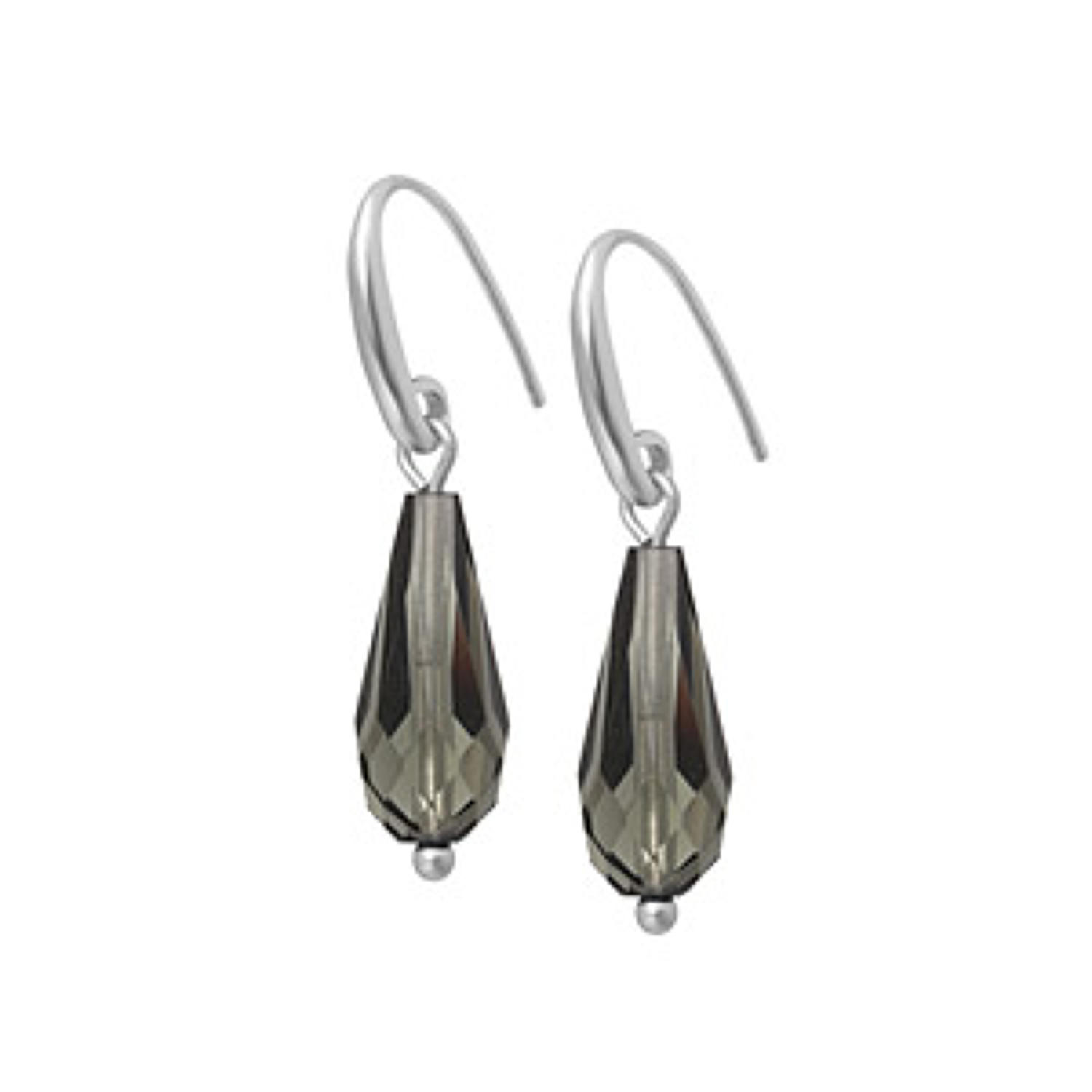 Sence - Laughter earrings matt silver