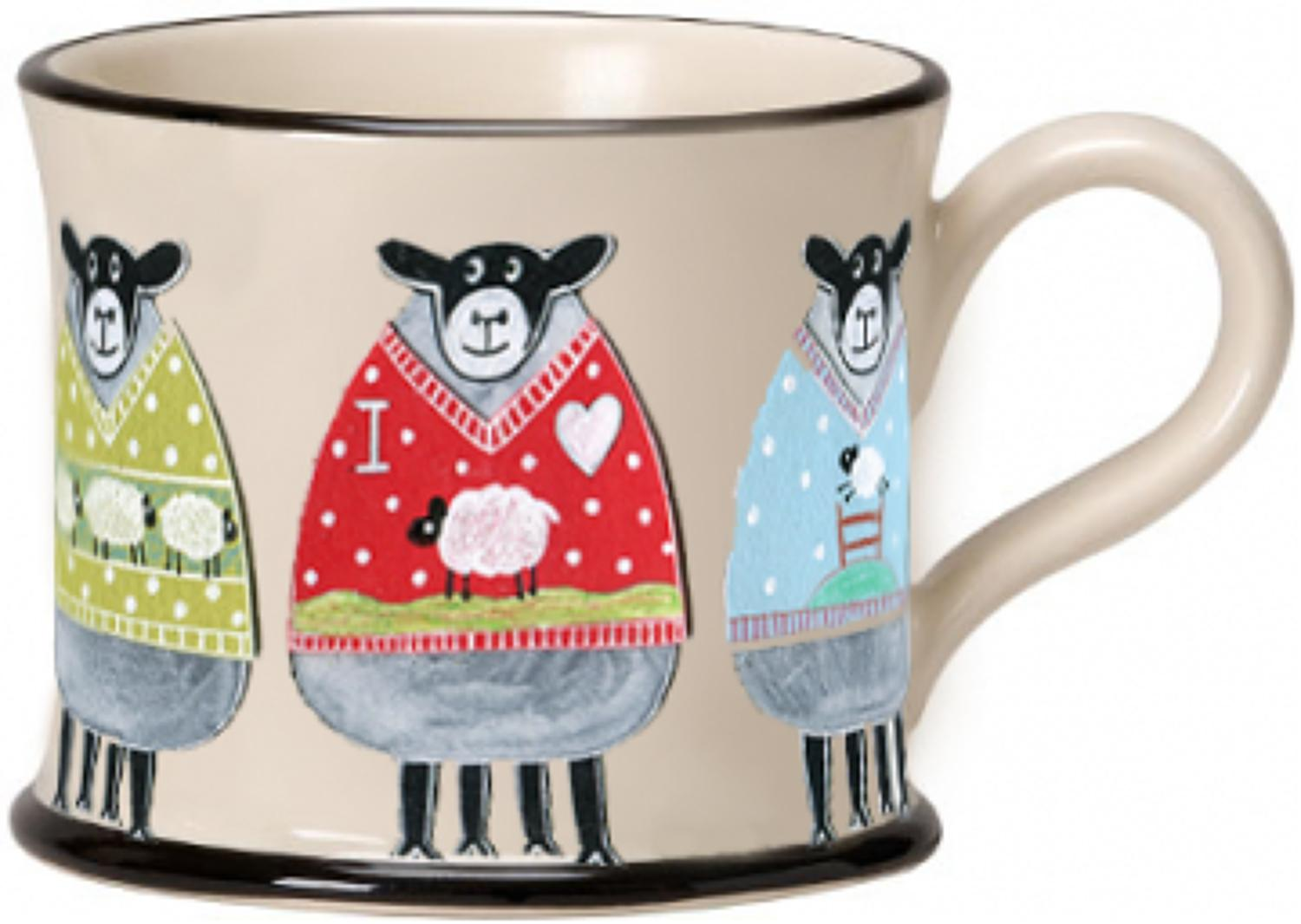Moorland Pottery - Wooley Jumper Sheep Mug