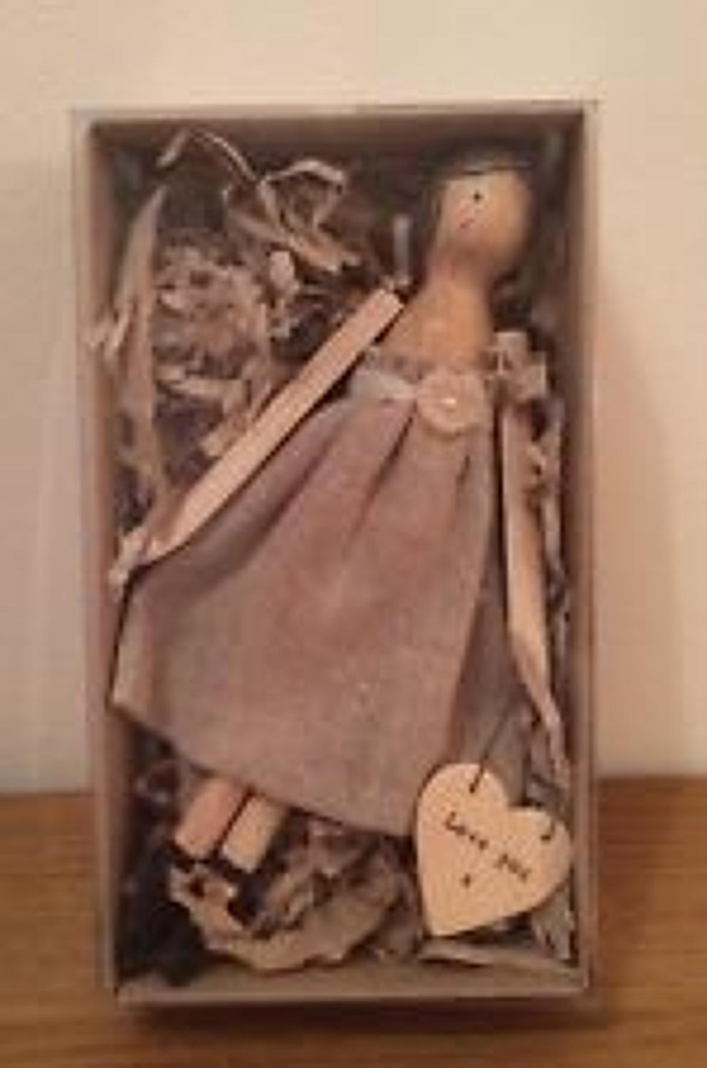 East of India - Wooden girl in box - Love you