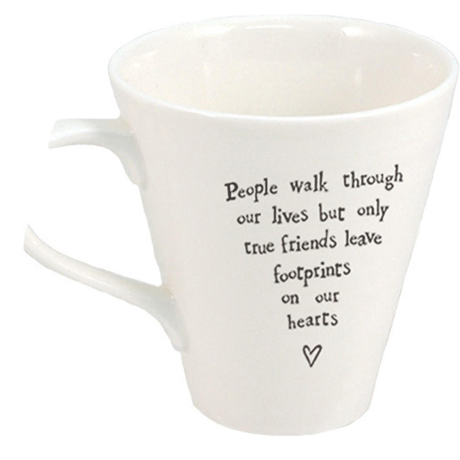 East of India - Boxed porcelain mug - People walk through our lives