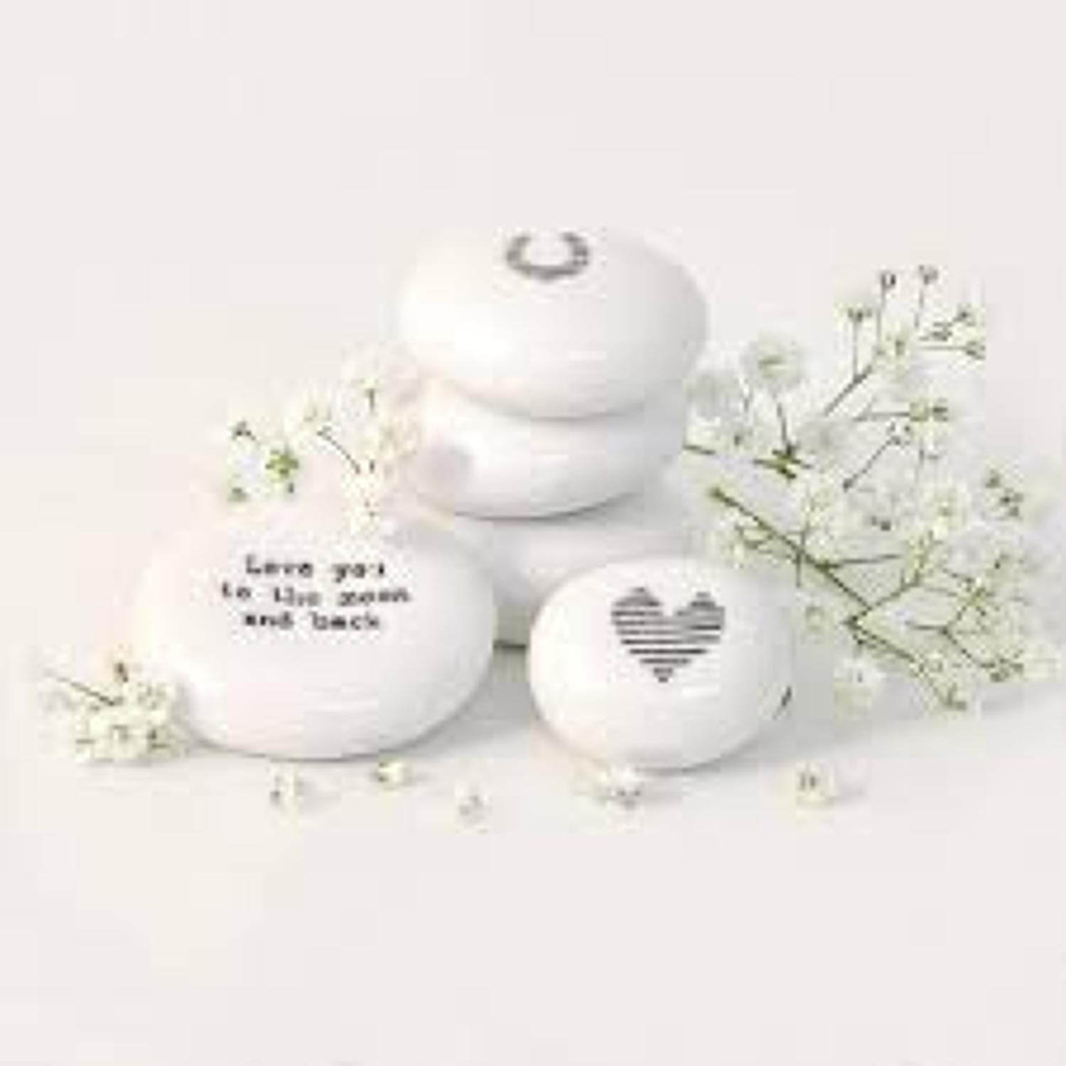 East of India - Porcelain pebble - Love you to the moon and back