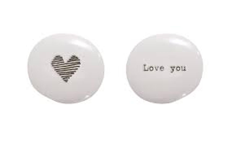 East of India - Porcelain pebble - Love you