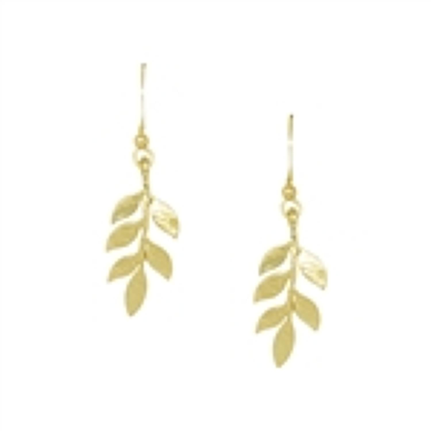 White Leaf - Simple leafs in brushed gold finish