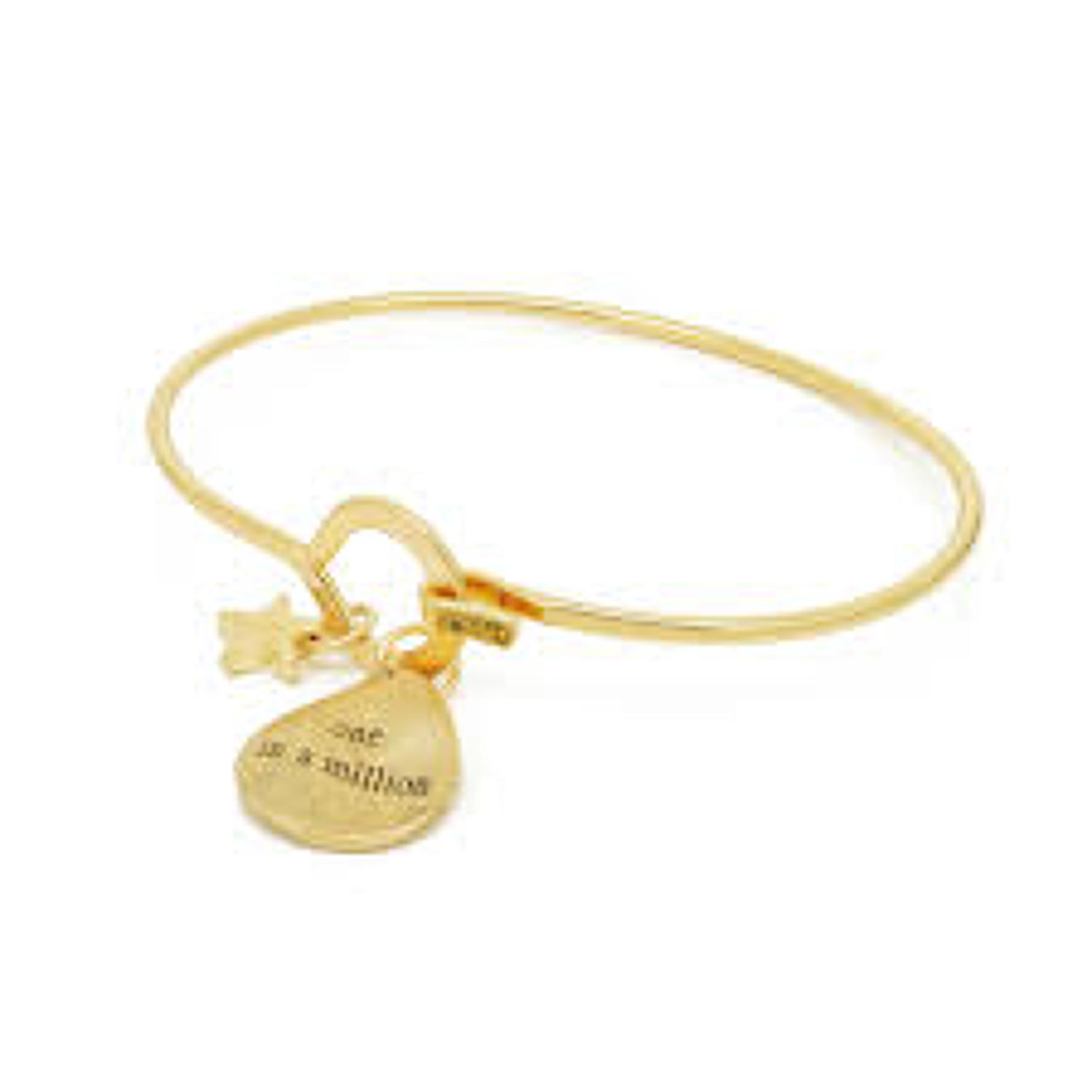 White Leaf - One in a million bangle matt 20k gold plate