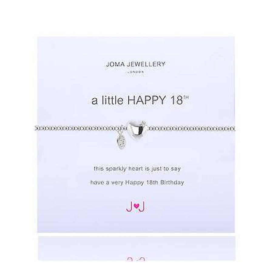 Joma jewellery - A little - Happy 18th - Silver plated bracelet
