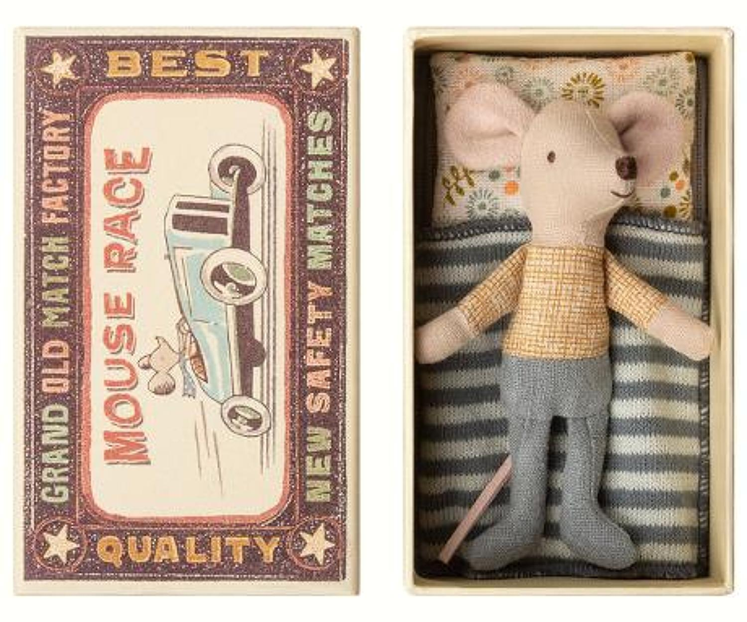 Maileg - Little brother (2) mouse in box