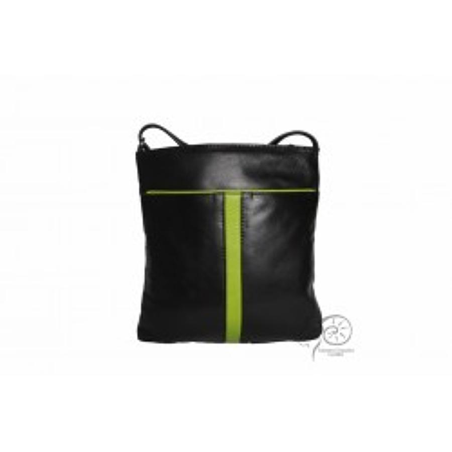 ECL - Leather handbag - Marie in black parrot - Inside pockets