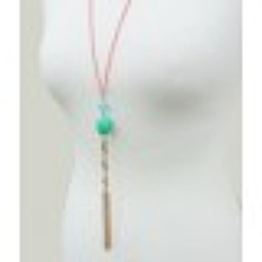 Belle & Flo - Semi Precious tassel necklace - Coral