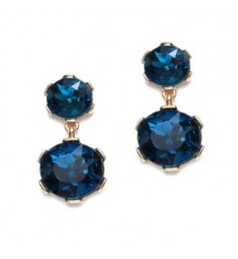 Belle & Flo - Drop crystal earrings