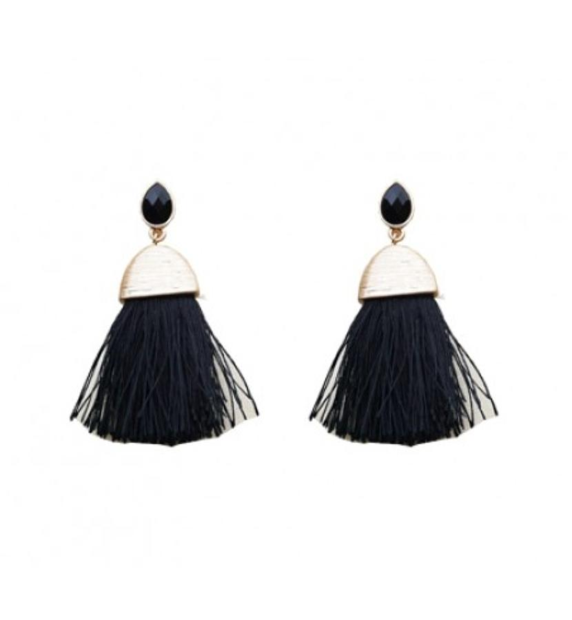 Belle & Flo - Teardrop tassel earrings