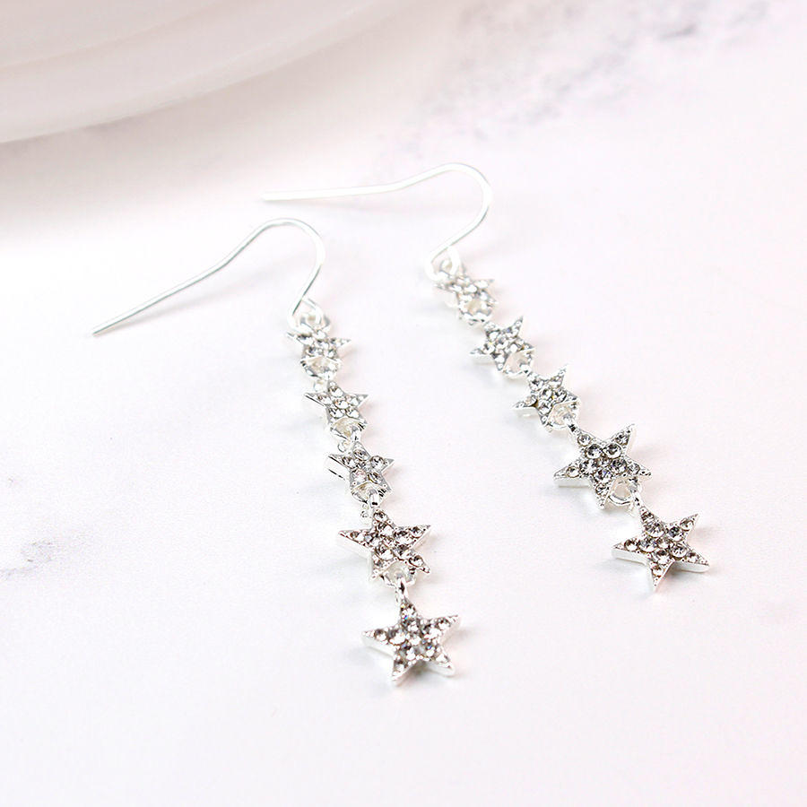 POM - Multi star crystal earrings