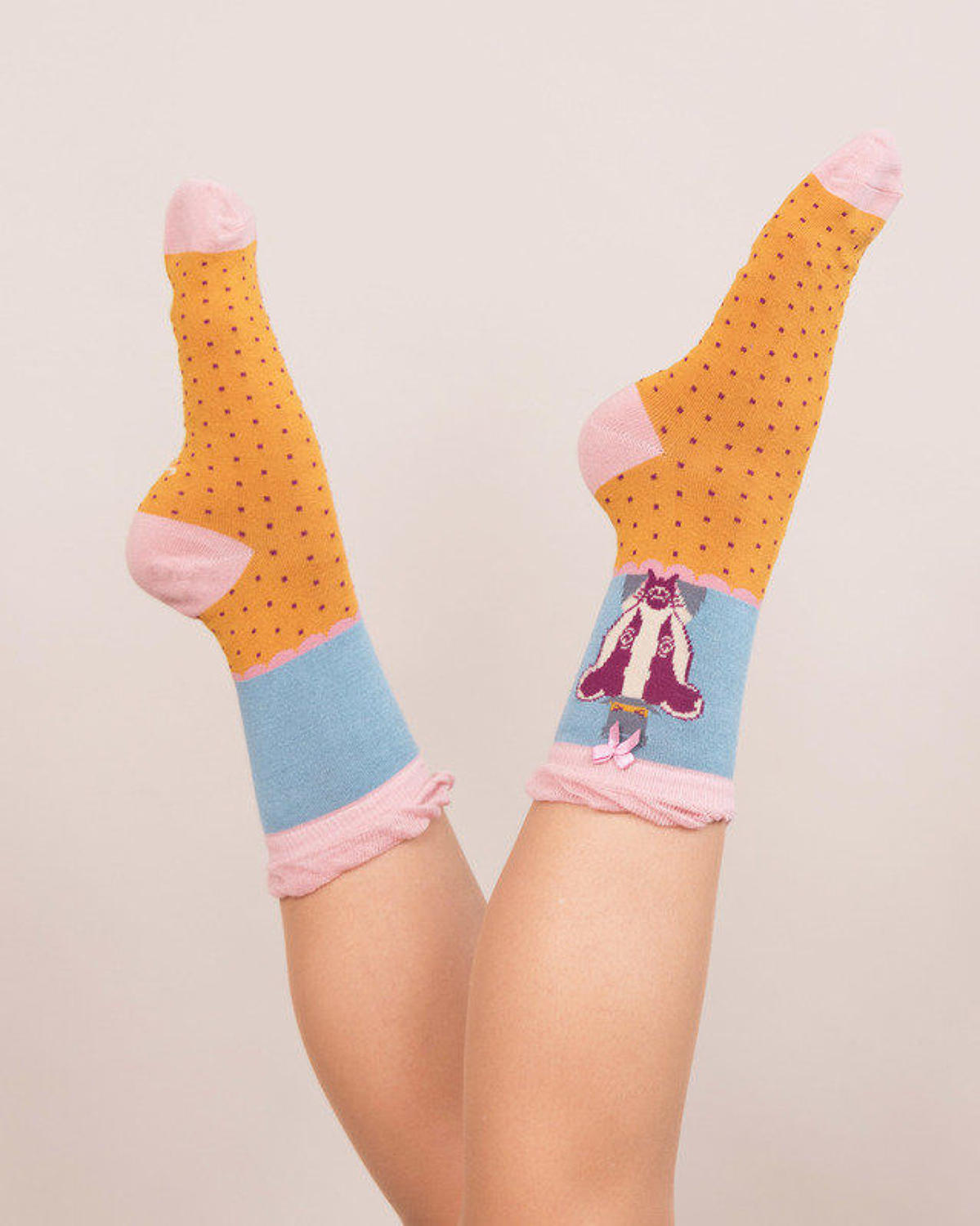 Powder - Mr Badger ankle socks - One size - Mustard