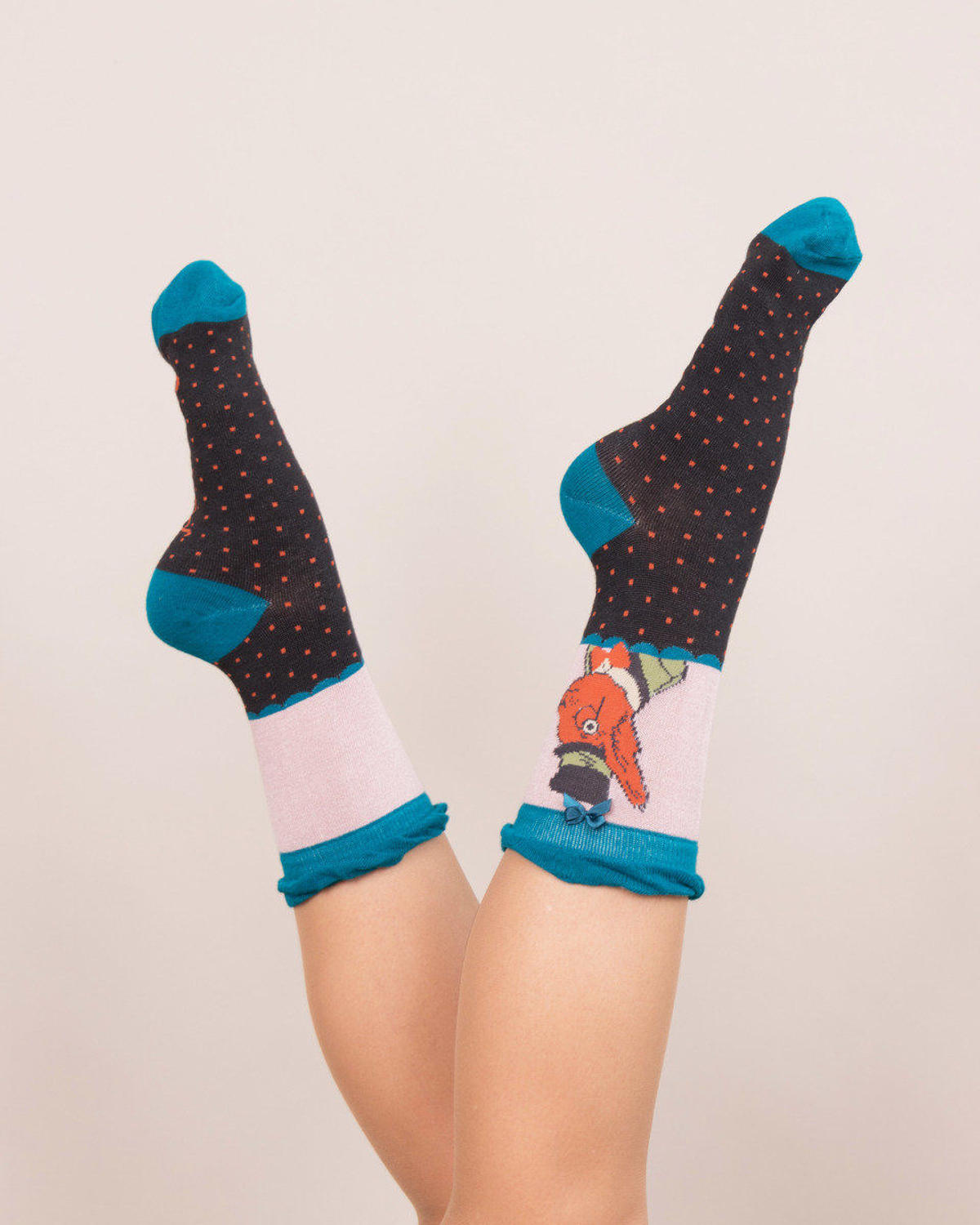 Powder - Mr Squirrel ankle socks - One size - Charcoal