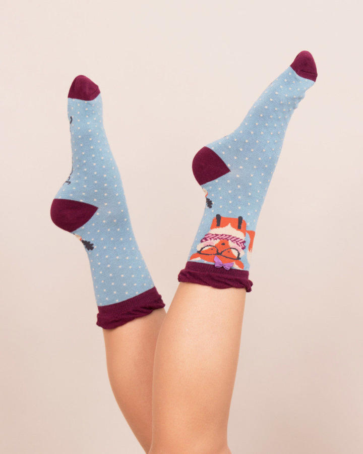 Powder - Nerd Fox ankle socks - One size - Ice
