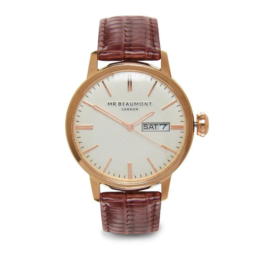 Mr Beaumont - Vintage - Brown/white dial