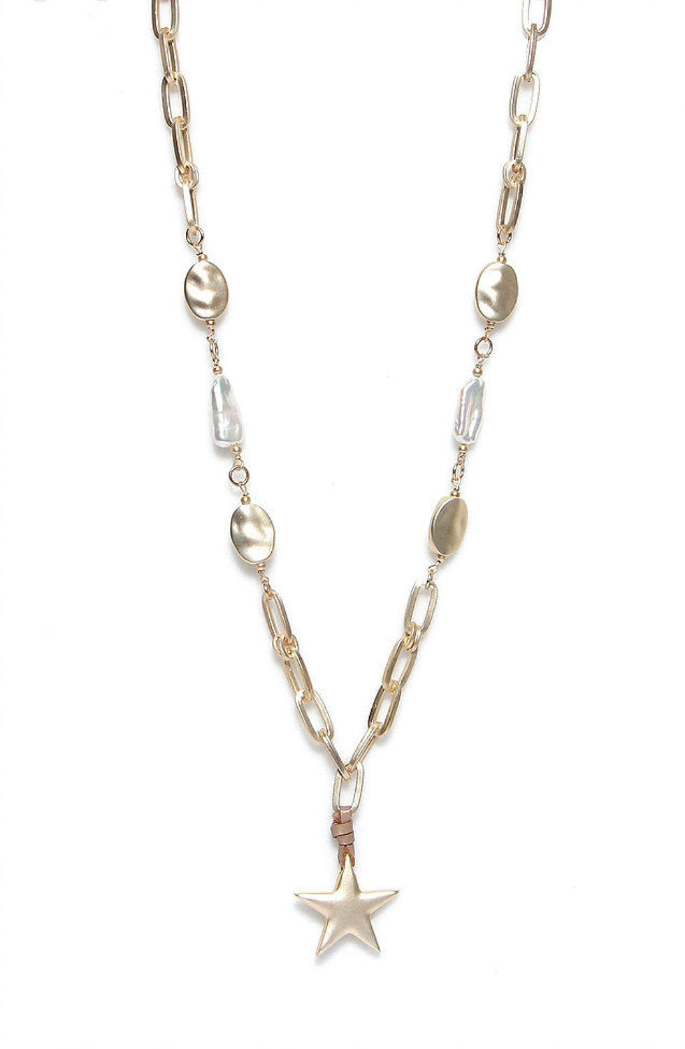 Envy -  Gold star pearl necklace - Ref 189GDNW