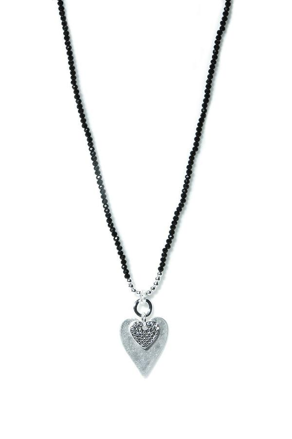Envy - Silver heart necklace - Ref 129GRNF