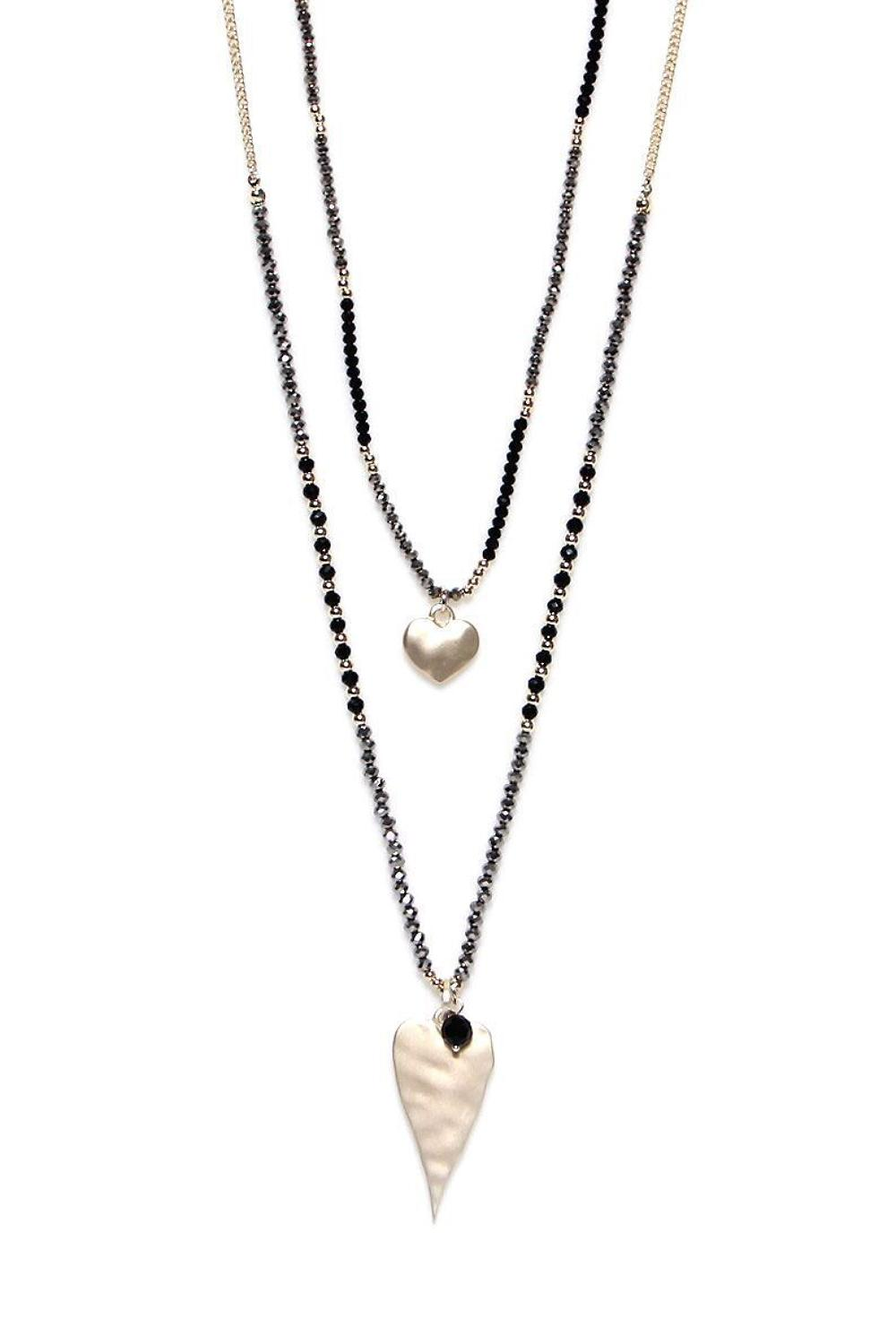 Envy - 2 hearts gold necklace - Ref 187GDNW