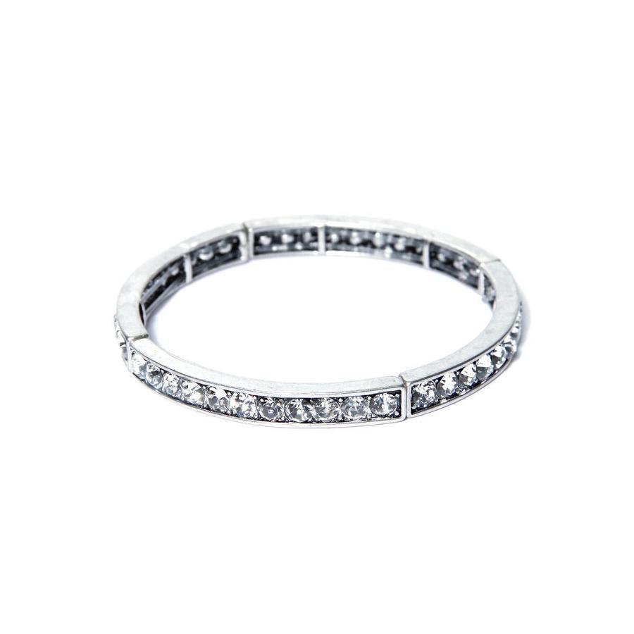 Envy - Crystal slim silver bracelet